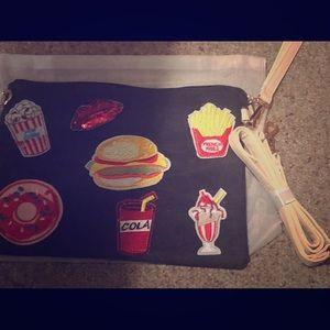 Denim Junk Food Clutch bag